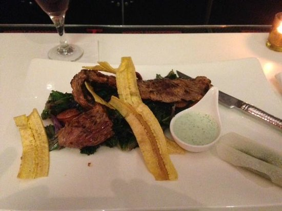 Vermilion : Hangar steak with plantain crisps