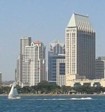Manchester Grand Hyatt San Diego: View of hotel from Coronado Island
