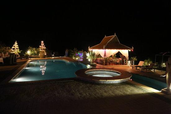 home swimming pools at night. Starling Farm: Swimming Pool At Night Home Pools