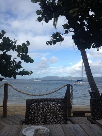 Cooper Island Beach Club: view from breakfast