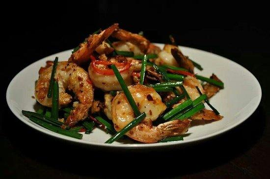 Teza: Fusion garlic chilli k.prawns