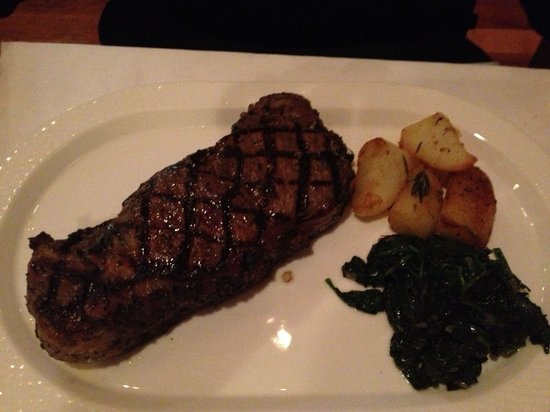 Nonna of Italy: New york strip, potatoes, spinach