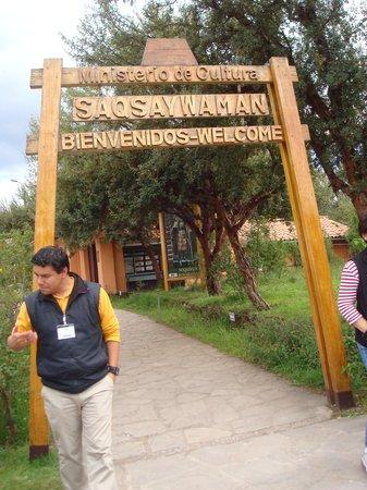 Sacsayhuamán: Entrance Sign to Saqsaywaman