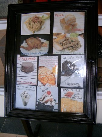 Zoey's Cafe: Sample Menu Items, much more awaits you inside !