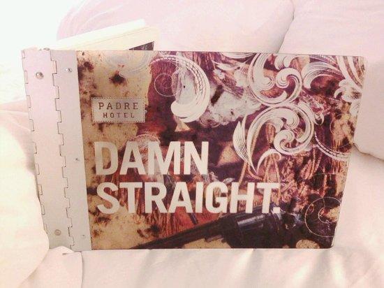 Padre Hotel : Best hotel compendium ever.