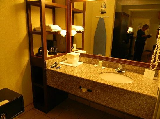 Comfort Inn and Suites Rancho Cordova : Exterior marble sink