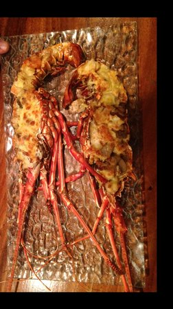 Red Snapper Seafood Restaurant: gratinated lobster at oven