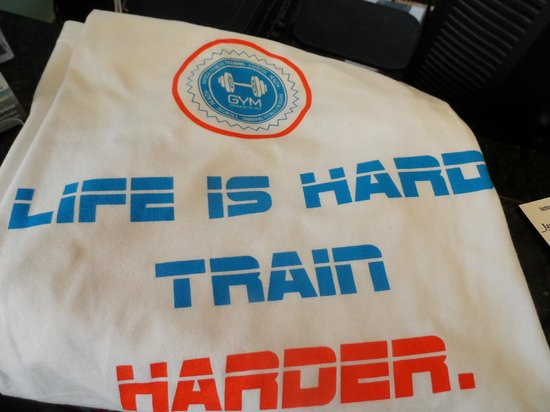 Carillon Beach, FL: Paradise Fitness t-shirts available in Black and White