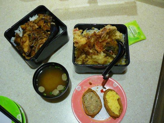 Sakae Sushi: терияки, суп, пирожки