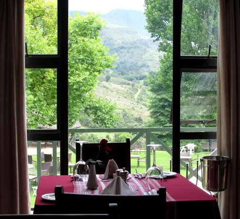 Champagne Castle Hotel: view from our dining table