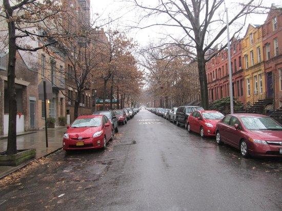 Park Slope Inn: view down the street