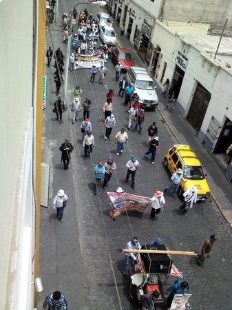 Casona Plaza Hotel AQP : View from Balcony