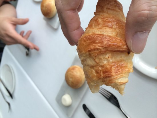 Water Library Chamchuri: croissant with truffle butter - to die for