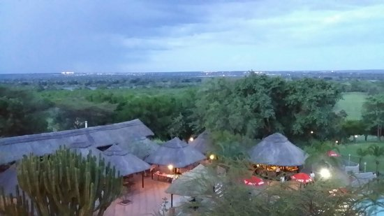 Elephant Hills Resort: View from room, you can see the river in the distance