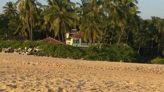 Blue Mermaid Homestay : Blick auf die Anlage vom Strand