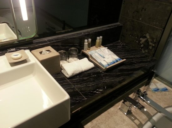 Royal Plaza Hotel: The basin with toiletries in the bathroom