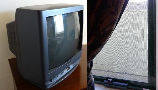 Magnolia Court Boutique: old TV & window view