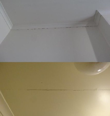 Magnolia Court Boutique: cracked ceilings in both rooms