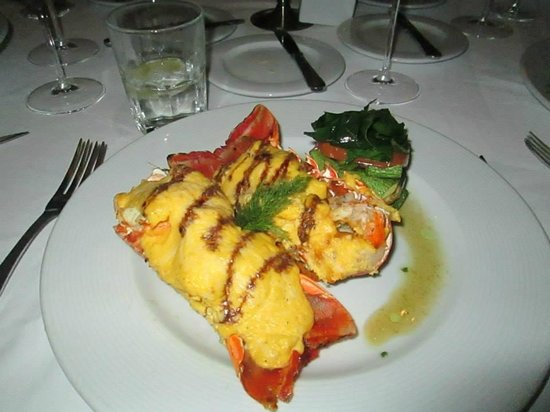 valentin imperial riviera maya lobster at the french restaurant