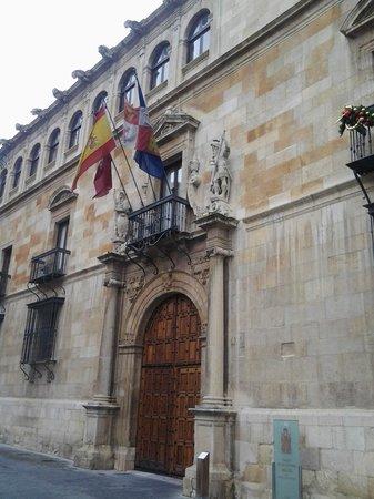 Palacio de los Guzmanes: Vista de un aspecto de la fachada.