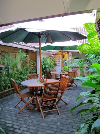 Monginsidi Guest House: A green dining area