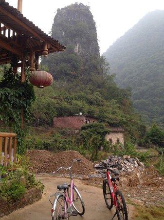Yangshuo Huanggong Garden Hotel: a punto de salir de excursión en bicicleta