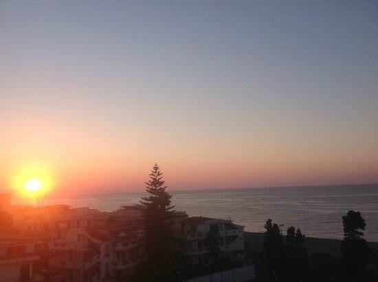 Atahotel Naxos Beach: Sunrise from our Balcony