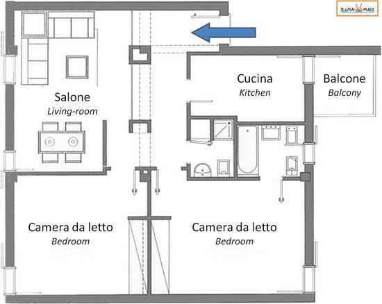 Appartamento Campesa - Piantina - Foto di Roma dal Mare, Lido di ...