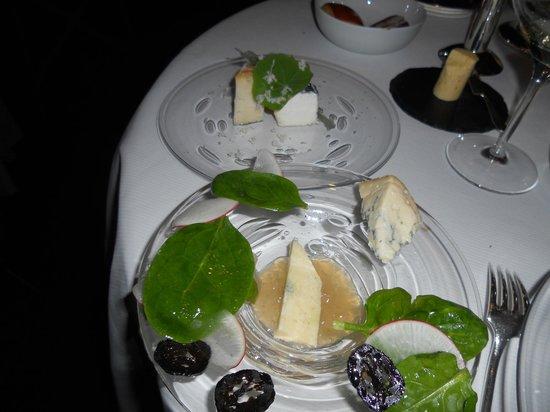 Pierre Gagnaire : Assiettes du plat de fromage