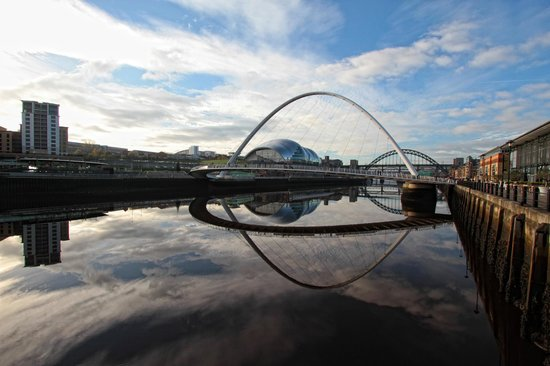 The Quayside and The Gateshead Millennium Bridge