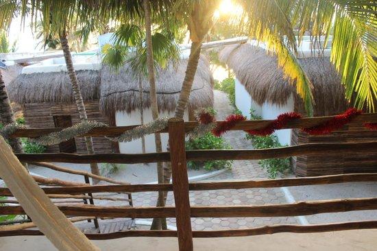 Cabanas Tulum: Uitzicht vanaf de kamer
