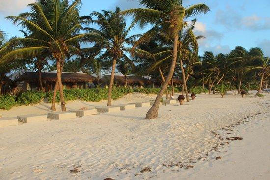 Cabanas Tulum : Het strand