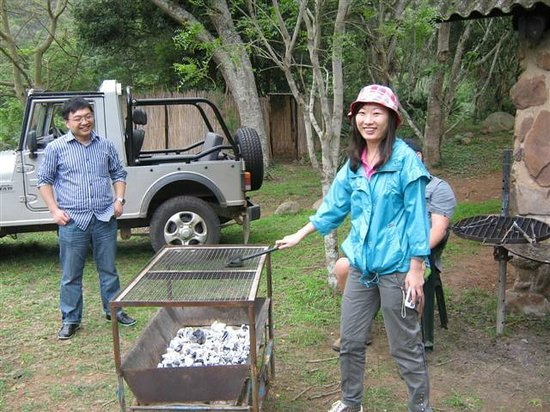 Gwahumbe Game & Spa: The Chines loved braai time at Waterfall