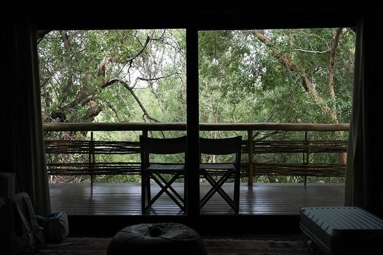 Thakadu River Camp: Jungle view from our bed