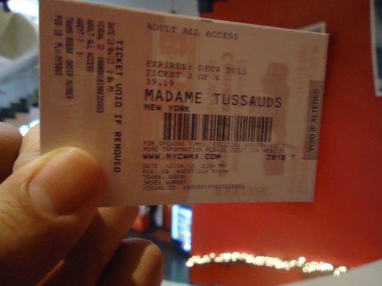 Madame Tussauds New York : Ingresso