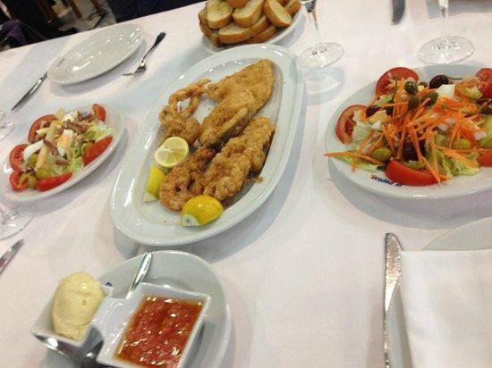 La Pepica : Frittura di pesce e insalate