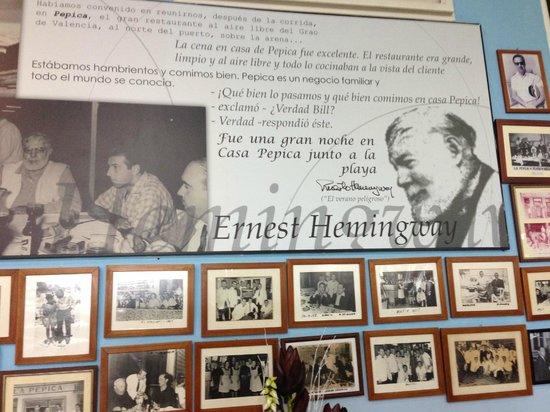 La citazione di Hemingway che parla della Pepica