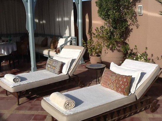 Riad Kniza: Rooftop gardens