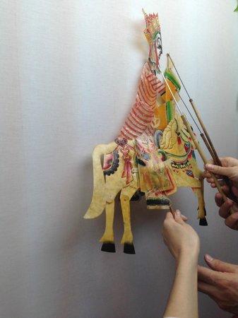 Shichahai Shadow Art Performance Hotel: Show de marionetas vista desde dentro
