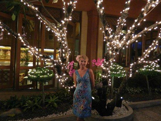 Diamond Cliff Resort and Spa: огни на деревьях