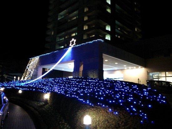 Hotel Epinard Nasu: エントランスのイルミネーション
