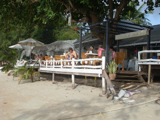 Rainbow Fish Divers: Tauchschule + Restaurant am Strand