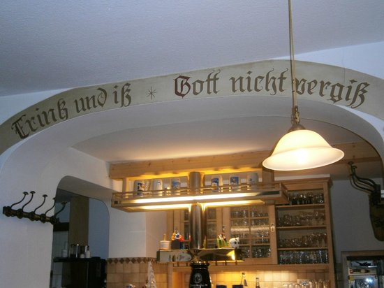 Landgasthof Wieserwirt: motto tedesco