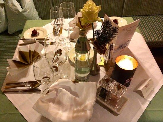 Defereggental Hotel & Resort: Heiliger Abend 2013 - Tisch Deko