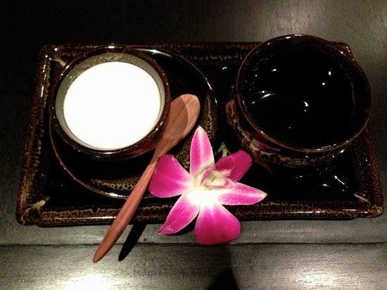 Centara Nova Hotel & Spa Pattaya: the tea & yogurt offered after the spa treatment