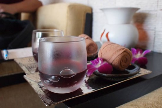 Centara Nova Hotel & Spa Pattaya: the welcome drinks of the spa