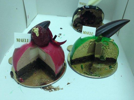 Cafe Maelu: Pink Lady, Pistachio, Black Forest
