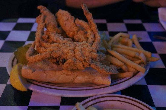 Acme Oyster House : Soft-shell crab po-boy