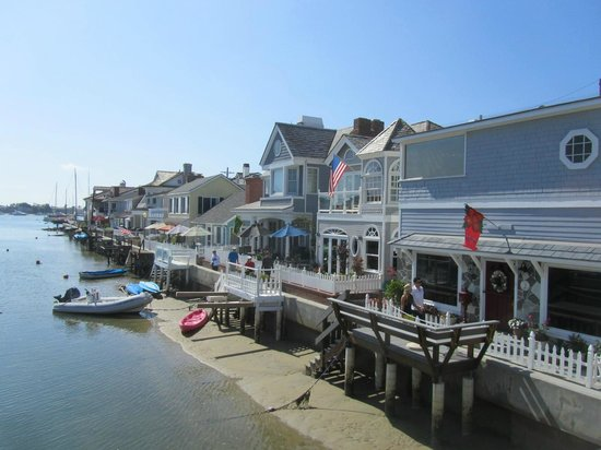 view from the bridge picture of balboa island newport beach