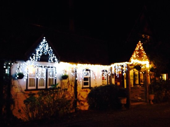 West Lodge Hotel: Mike had just put the Christmas lights up